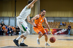 Miha Fon of Helios Suns during basketball match between KK Petrol Olimpija and KK Helios Suns in Round #9 of Liga Nova KBM 2018/19, on December 14, 2018 in Arena Tivoli, Ljubljana, Slovenia. Photo by Vid Ponikvar / Sportida