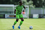 Forest Green Rovers Udoka Godwin-Malife(22) on the ball during the EFL Sky Bet League 2 match between Forest Green Rovers and Grimsby Town FC at the New Lawn, Forest Green, United Kingdom on 17 August 2019.