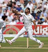 Wahab Riaz bowls during the first Investec Test Match between England and Pakistan at Lord's Cricket Ground, London. Photo: Graham Morris/www.cricketpix.com (Tel:+44(0)20 8969 4192; Email: graham@cricketpix.com) 16/07/2016