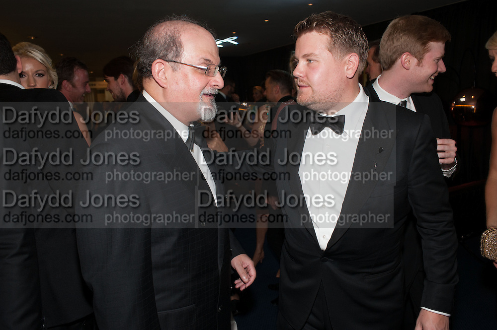 SALMAN RUSHDIE; JAMES CORDEN, 2012 GQ Men of the Year Awards,  Royal Opera House. Covent Garden, London.  3 September 2012