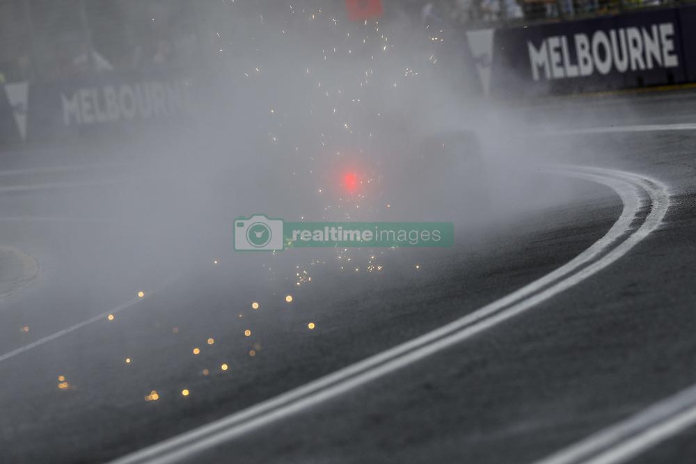 March 24, 2018 - Melbourne, Victoria, Australia - Sparks & rain during 2018 Formula 1 championship at Melbourne, Australian Grand Prix, from March 22 To 25 - s: FIA Formula One World Championship 2018, Melbourne, Victoria : Motorsports: Formula 1 2018 Rolex  Australian Grand Prix, (Credit Image: © Hoch Zwei via ZUMA Wire)
