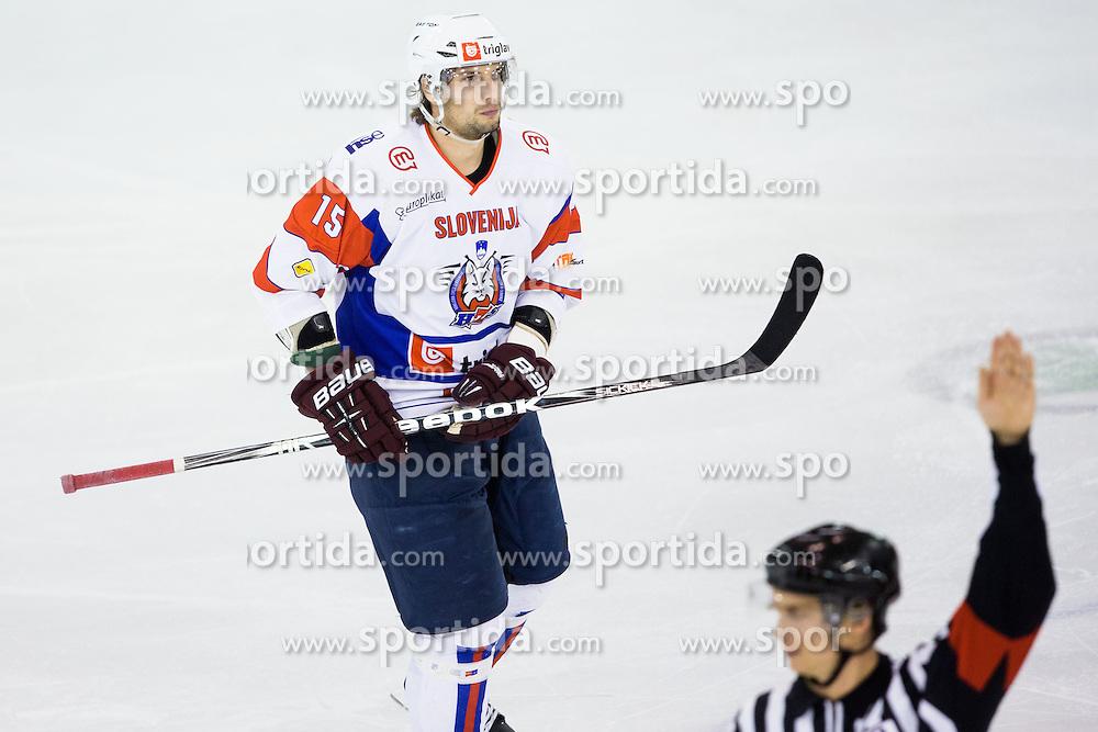 Blaz Gregorc of Slovenia during ice-hockey match between Slovenia and France in Slovenia Euro ice hockey challenge, on November 9, 2012 at Hala Tivoli, Ljubljana, Slovenia. (Photo By Matic Klansek Velej / Sportida)