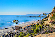 San Clemente from the Bluffs Looking  North towards the Pier and to Dana Point California