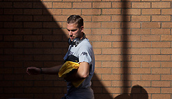 BURNLEY, ENGLAND - Saturday, August 31, 2019: Liverpool's goalkeeper Adrián San Miguel del Castillo arrives before the FA Premier League match between Burnley FC and Liverpool FC at Turf Moor. (Pic by David Rawcliffe/Propaganda)