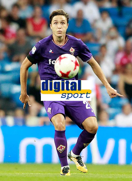 ACF Fiorentina's Federico Chiesa during Santiago Bernabeu Trophy. August 23,2017. (ALTERPHOTOS/Acero)