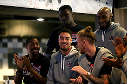 Roy Owen, Daniel Edozie, Brandon Boggs, Jordan Nichols and Rohndell Goodwin of Bristol Flyers take part in the 2017/18 season launch event at Ashton Gate  - Mandatory by-line: Robbie Stephenson/JMP - 11/09/2017 - BASKETBALL - Ashton Gate - Bristol, England - Bristol Flyers 2017/18 Season Launch