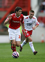 Photo: Rich Eaton. <br /> <br /> Nottingham Forest v AFC Bournemouth. Coca Cola Championship. 11/08/2007. Forest's Brendan Moloney (l) attacks.