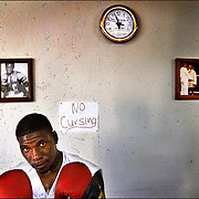 G-Town Boxer Brian Reed, Portrait made in Greenville, Miss.