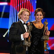 NLD/Amsterdam/20121218 - NOC/NSF Sportgala 2012, Sportvrouw van het jaar Ranomi Kromowidjojo en sporter van het jaar Epke Zonderland