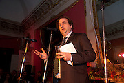 ALEXANDER WAUGH, The 2009 Literary Review Bad sex in Fiction award. In and Out Club. St. James's Sq. London. 30 November 2009