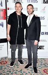 Cameron Laux and Charlie Condou attend The British LGBT Awards at The Landmark Hotel, London on Friday 24 April 2015