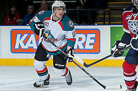 KELOWNA, CANADA -FEBRUARY 19: Carter Rigby #11 of the Kelowna Rockets skates against the Tri City Americans on February 19, 2014 at Prospera Place in Kelowna, British Columbia, Canada.   (Photo by Marissa Baecker/Getty Images)  *** Local Caption *** Carter Rigby;