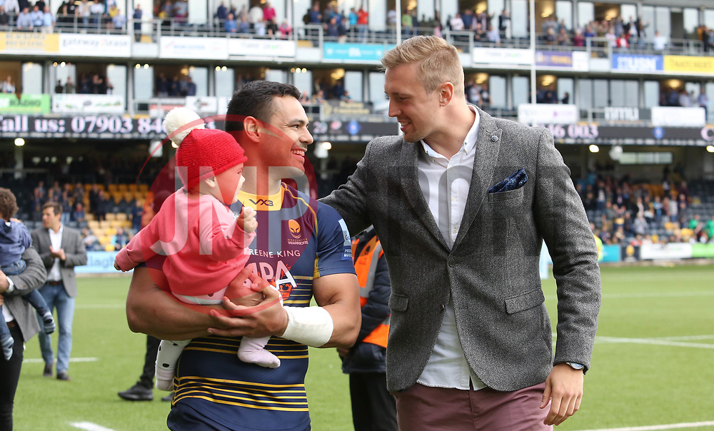 Ben Te'o and Pierce Phillips of Worcester Warriors during the lap of honour - Mandatory by-line: Joe Dent/JMP - 18/05/2019 - RUGBY - Sixways Stadium - Worcester, England - Worcester Warriors v Saracens - Gallagher Premiership Rugby