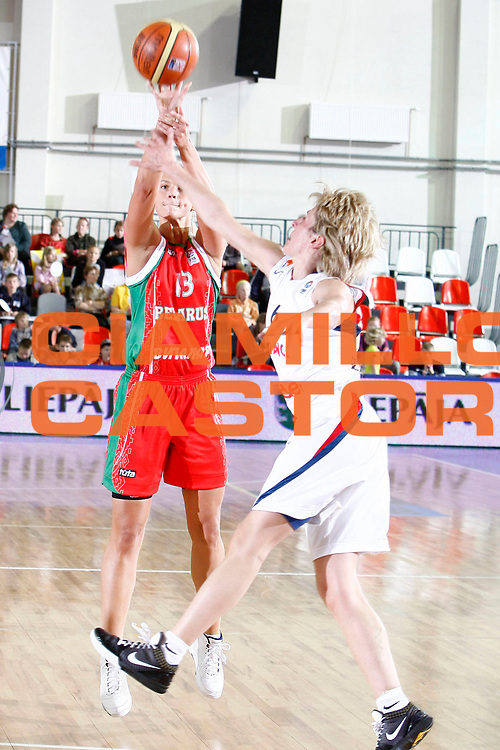 DESCRIZIONE : Valmiera Latvia Lettonia Eurobasket Women 2009 Francia Bielorussia France Belarus<br /> GIOCATORE : Tatyana  Troina<br /> SQUADRA : Bielorussia Belarus<br /> EVENTO : Eurobasket Women 2009 Campionati Europei Donne 2009 <br /> GARA : Francia Belarus France Belarus<br /> DATA : 08/06/2009 <br /> CATEGORIA : tiro<br /> SPORT : Pallacanestro <br /> AUTORE : Agenzia Ciamillo-Castoria/E.Castoria