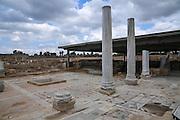 Ruins of the Roman public bathhouse, Caesarea, Israel