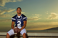 Portrait of Derrick Becker before he heads off to Simon Fraser University to continue his football career.