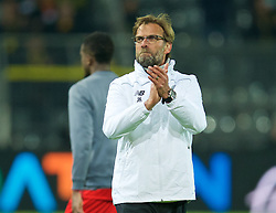 DORTMUND, GERMANY - Thursday, April 7, 2016: Liverpool's manager Jürgen Klopp after the 1-1 draw against Borussia Dortmund during the UEFA Europa League Quarter-Final 1st Leg match at Westfalenstadion. (Pic by David Rawcliffe/Propaganda)