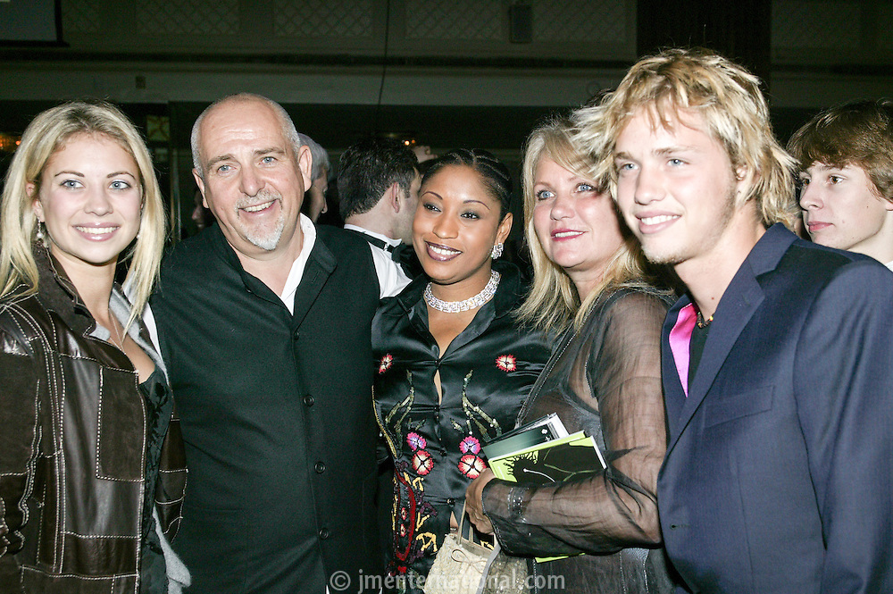 Peter Gabriel and Mrs Youssou N'dour and Branson family