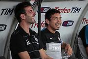 Bari (BA) 21.07.2012 - Trofeo Tim 2012. Inter - Juventus. Nella Foto: Mister Stramaccioni dx e Nagatomo sx (I)
