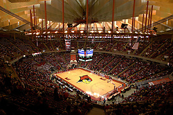 "31 January 2009:  The Illinois State University Redbirds join the Bradley Braves in a tie for 2nd place in ""The Valley"" with a 69-65 win on Doug Collins Court inside Redbird Arena on the campus of Illinois State University in Normal Illinois This is a High Dynamic Rage photo Illustration, created from 2 or more images."