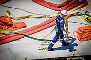 Maersk Texas heavy lift of RSC in San Diego California