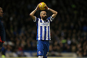 Brighton defender, Bruno Saltor (2) during the Sky Bet Championship match between Brighton and Hove Albion and Brentford at the American Express Community Stadium, Brighton and Hove, England on 5 February 2016.