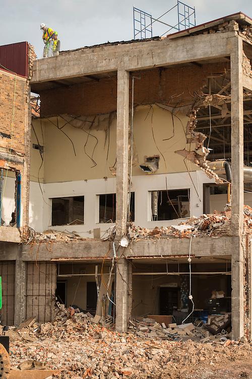 Demolition at Milby High School, April 22, 2015.