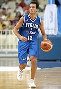ATENE 22 AGOSTO 2007<br /> BASKET<br /> TORNEO ACROPOLIS<br /> ITALIA-LITUANIA<br /> NELLA FOTO: BULLERI<br /> FOTO CIAMILLO-CASTORIA