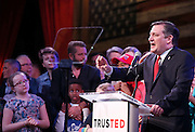 Republican presidential candidate Ted Cruz speaks to supporters at his election night party after Super Tuesday in Stafford, Texas, USA, 01 March 2016. Twelve states voted in the early primary on Super Tuesday across the country.