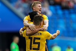 July 14, 2018 - Saint Petersburg, Russia - Kevin De Bruyne of the Belgium national football team celebrates after scoring a goal during the 2018 FIFA World Cup Russia 3rd Place Playoff match between Belgium and England at Saint Petersburg Stadium on July 14, 2018 in St. Petersburg, Russia. (Credit Image: © Igor Russak/NurPhoto via ZUMA Press)