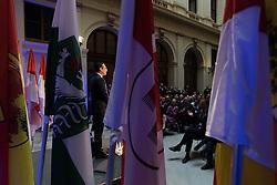"""24.10.2016, Palais Epstein, Wien, AUT, FPÖ, Rede """"Das Recht geht vom Volk aus - Zum österreichischen Nationalfeiertag"""". im Bild Klubobmann FPÖ Heinz-Christian Strache // during speech of the leader of the austrian freedom party Heinz Christian Strache due to the Austrian National Day in Vienna, Austria on 2016/10/24. EXPA Pictures © 2016, PhotoCredit: EXPA/ Michael Gruber"""