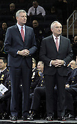 29 December-New York, NY: (L-R) New York City Mayor Bill DeBlasio and NYPD Commissioner William Bratton attend the 2014 New York Police Academy Graduation Ceremony held at Madison Square Garden on December 29, 2014 in New York City.  (Photo by Terrence Jennings/terrencejennings.com)