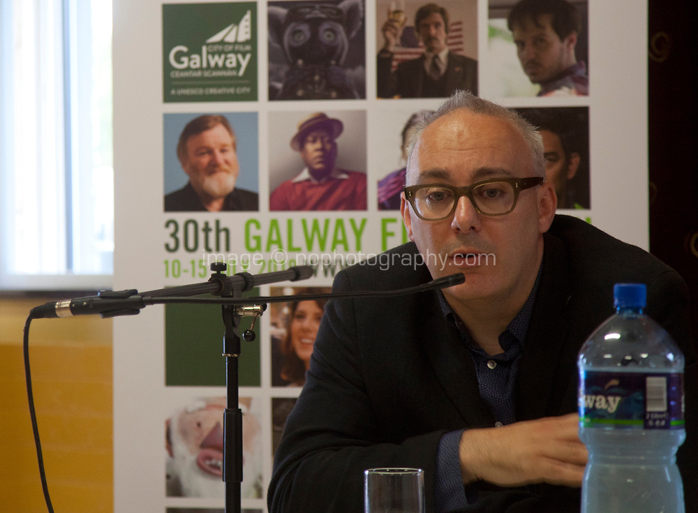 Gareth Lee (Screen Training Ireland) at the 'Shaping Film Production in Ireland - the next 10 years' Panel Discussion at the Galway Film Fleadh, Galway Rowing Club, Galway, Ireland. Saturday 14th July 2018