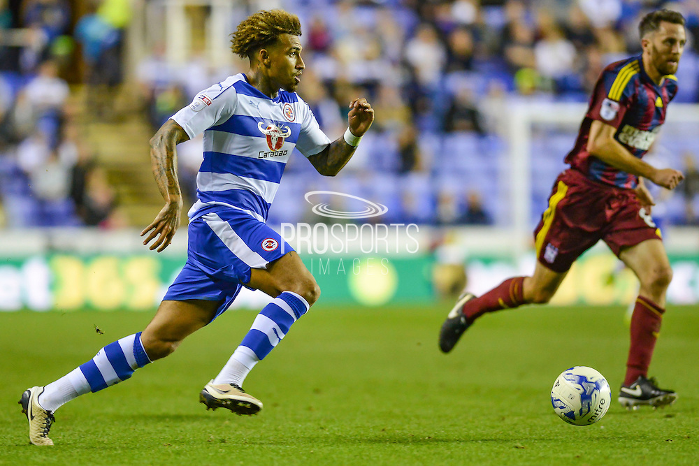 Reading FC midfielder (23) Danny Williams on the ball during the EFL Sky Bet Championship match between Reading and Ipswich Town at the Madejski Stadium, Reading, England on 9 September 2016. Photo by Mark Davies.