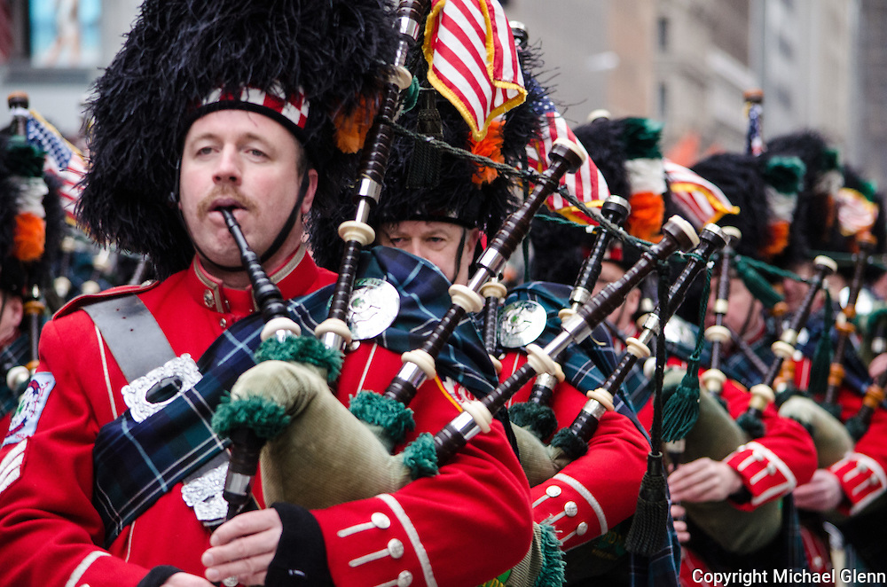 FDNY Emerald Society piper at the Saint Patrick's day parade