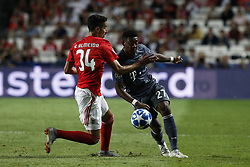 September 19, 2018 - Lisbon, Portugal - Oliver Batista Meier of Bayern Munchen (L) vies for the ball with David Alaba of Bayern Munchen (R)  during Champions League 2018/19 match between SL Benfica vs FC Bayern Munchen, in Lisbon, on September 19, 2018. (Credit Image: © Carlos Palma/NurPhoto/ZUMA Press)