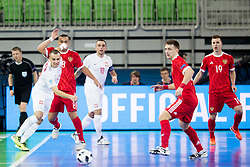 Artur Poplawski of Poland and Eder Lima of Russia during futsal match between Russia and Poland at Day 1 of UEFA Futsal EURO 2018, on January 30, 2018 in Arena Stozice, Ljubljana, Slovenia. Photo by Ziga Zupan / Sportida