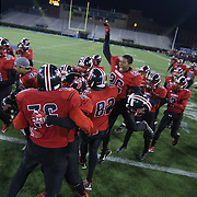 William Penn players celebrate after William Penn defeated Middletown 42-14 for the state title Saturday, Nov. 29 2014, at Delaware Stadium in Newark Delaware.