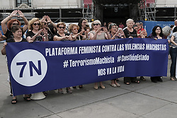 June 19, 2017 - Madrid, Spain - protest against violence against women, in Madrid, Monday, June 19, 2017. Protesters demanded more public funds to reinforce programs to fight against violence against women and promote gender equality  (Credit Image: © Oscar Gonzalez/NurPhoto via ZUMA Press)