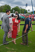 DITA VON TEESE; THEO HUTCHCRAFT, Cartier Queen's Cup. Guards Polo Club, Windsor Great Park. 17 June 2012