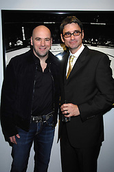 Left to right,  DANA WHITE the current President of the Ultimate Fighting Championship and Photographer KEVIN LYNCH at a private view of Octagan a showcase of work of photographer Kevin Lynch featuring the stars of the Ultimate Fighter Championship held at Hamiltons gallery, Mayfair, London on 17th January 2008.<br />