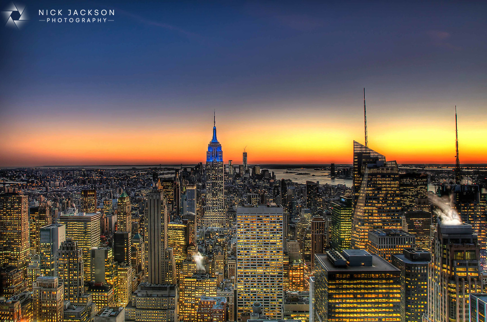 There are few better cityscapes than that from the top of the Rockefeller Center in New York. Many prefer to venture up the Empire State Building but from the Top of the Rock you get that famous landmark, and many more, included in the shot. <br />