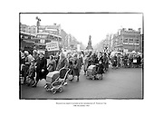 Housewives march in protest at the introduction of a new 'Turnover Tax'.<br />