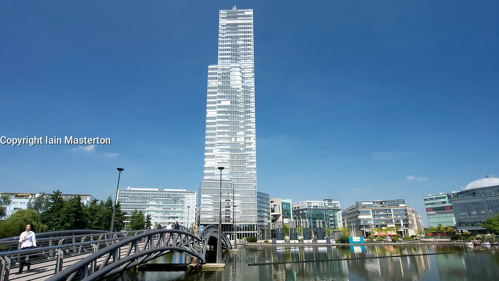 Tower in Media Park in Cologne Germany North Rhine-Westphalia