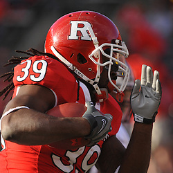 Oct 10, 2009; Piscataway, NJ, USA; Rutgers running back Jourdan Brooks (39) runs for a touchdown during first half NCAA college football action between Rutgers and Texas Southern at Rutgers Stadium.