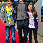NLD/Amsterdam/20100818 - Premiere The Last Airbender 3D, Daniel Boissevain en kinderen Robin Julius en Bibi