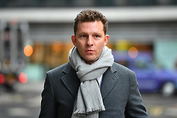 © Licensed to London News Pictures. 01/03/2017. London, UK. NICK CANDY arrives at the Royal Courts of Justice in London. Bothers Nick and Christian Candy are being sued in a dispute over a £12m loan which was used to help fund Mark Holyoake's own project at Grosvenor Gardens House in central London.Photo credit: Ben Cawthra/LNP