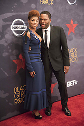 August 6, 2017 - New Jersey, U.S - TARAJI P HENSON, and ANTHONY ANDERSON at the Black Girls Rock 2017 red carpet. Black Girls Rock 2017 was held at the New Jersey Performing Arts Center in Newark New Jersey. (Credit Image: © Ricky Fitchett via ZUMA Wire)