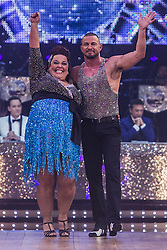 © Licensed to London News Pictures . 31 January 2013 . Manchester Arena , Manchester , UK . Lisa Riley and dance partner Robin Windsor arrive . Strictly Come Dancing on tour . Photo credit : Joel Goodman/LNP