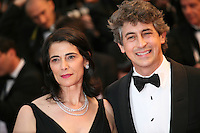 Alexander Payne and Hiam Abbass at the Cosmopolis gala screening at the 65th Cannes Film Festival France. Cosmopolis is directed by David Cronenberg and based on the book by writer Don Dellilo.  Friday 25th May 2012 in Cannes Film Festival, France.